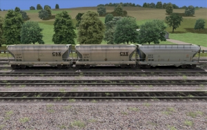 CSX/ERCX 2 Bay Covered Hopper set