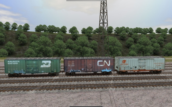 NERW 40ft ACF Prototype boxcar set Re-Released