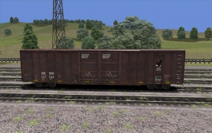 North Eastern 60 foot Boxcar Brown