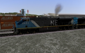 North Eastern ES44AC in Blue