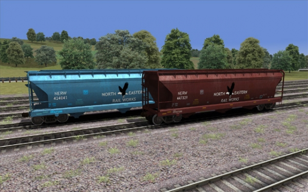 North Eastern 3 Bay Covered Hopper set